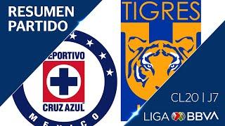 Resumen y Goles | Cruz Azul vs Tigres | Jornada 7 - CL 2020 | Liga BBVA MX