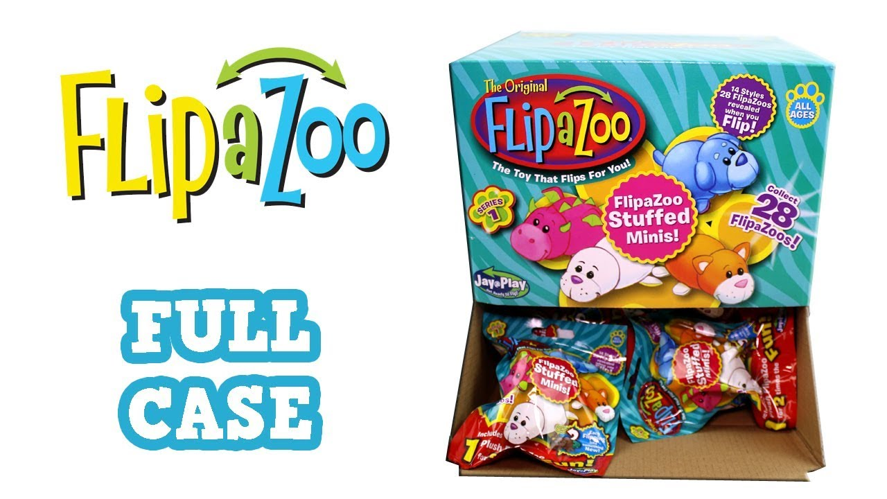 Flip A Zoo Stuffed Minis Blind Bag Full Case Unboxing