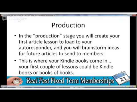 Make Money Online With Fixed Term Membership PT1