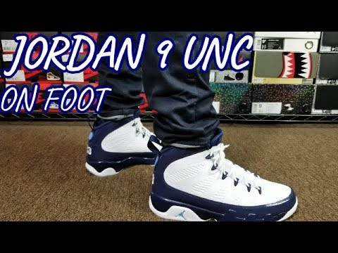 info for 47f19 87f87 AIR JORDAN 9 UNC MIDNIGHT NAVY REVIEW   ON FEET