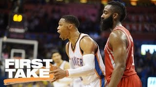 Will The Thunder Top The Rockets In The First Round? | First Take | April 13, 2017