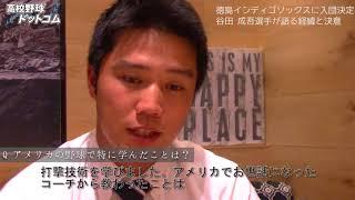 スラッガー・谷田成吾はなぜ徳島インディゴソックス入りを決意したのか?