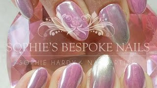 Pink Chrome Ombre Nails