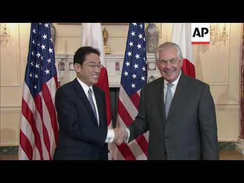 US Sec of State meets Japan FM