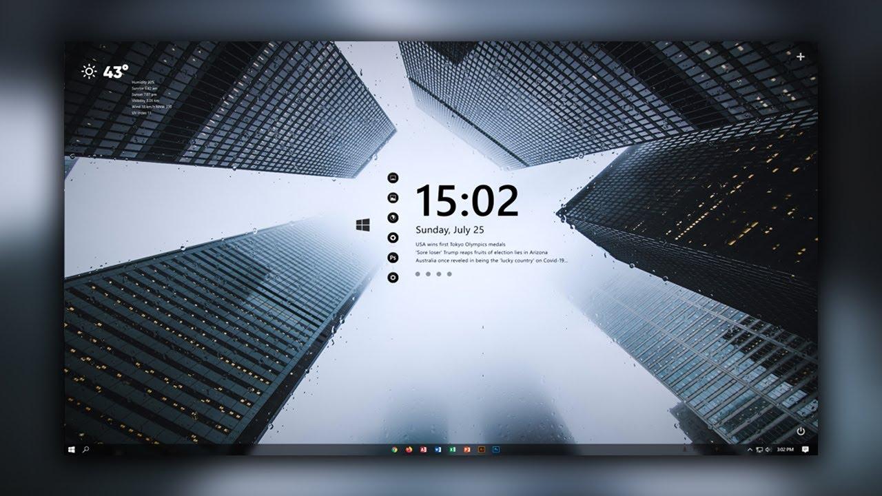 Give Your Desktop The Wow Factor   Rain City Desktop 3   Windows 10 Customization