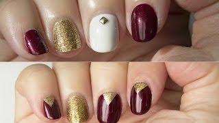 Dos Diseños De Navidad Fáciles / Two Easy Nail Designs For Christmas