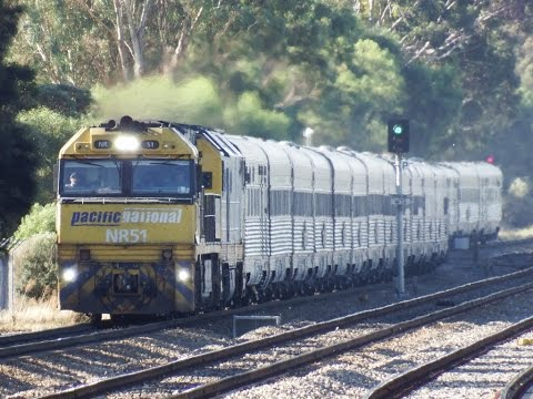 INDIAN PACIFIC through Parafield garden Station ADELAIDE