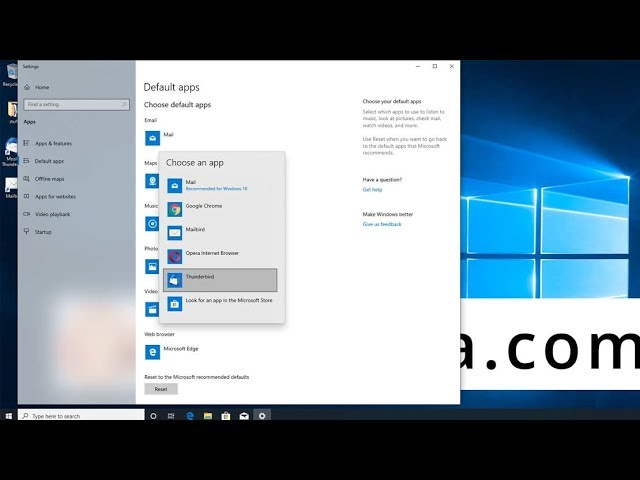 Change Default Email Client On Windows 10 Ricmedia