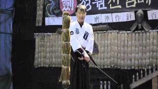 Tameshigiri & Iaido training katana Tiger Bamboo 일본도 전문베기형