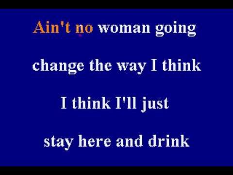 Merle Haggard - I Think I'll Just Stay Here And Drink - Karaoke