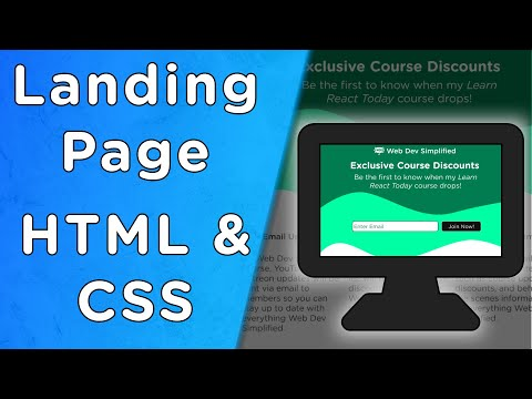 Responsive Landing Page Tutorial - HTML/CSS