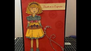 CTMH Birthday Card using Paper Doll Stamp