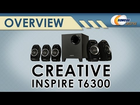 Creative 51MF4115AA002 Creative Inspire T6300 51 Speaker System Overview  Newegg Lifestyle