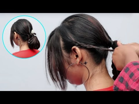 Braided French Bun roll Hairstyles for party | French Bun Hairstyle 2019 for girls | hair style girl
