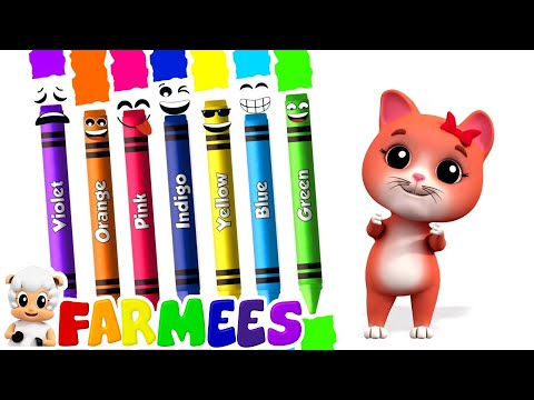 Crayons Color Song | Learning Videos & Songs For Babies | Kids Cartoon