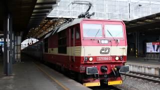 Отправление поезда Прага - Мюнхен с Praha Glavni Nadrazi