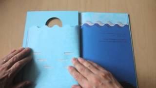 駒形克己さんの「BLUE TO BLUE」。サケの子どもたちの旅を描きます。 ht...