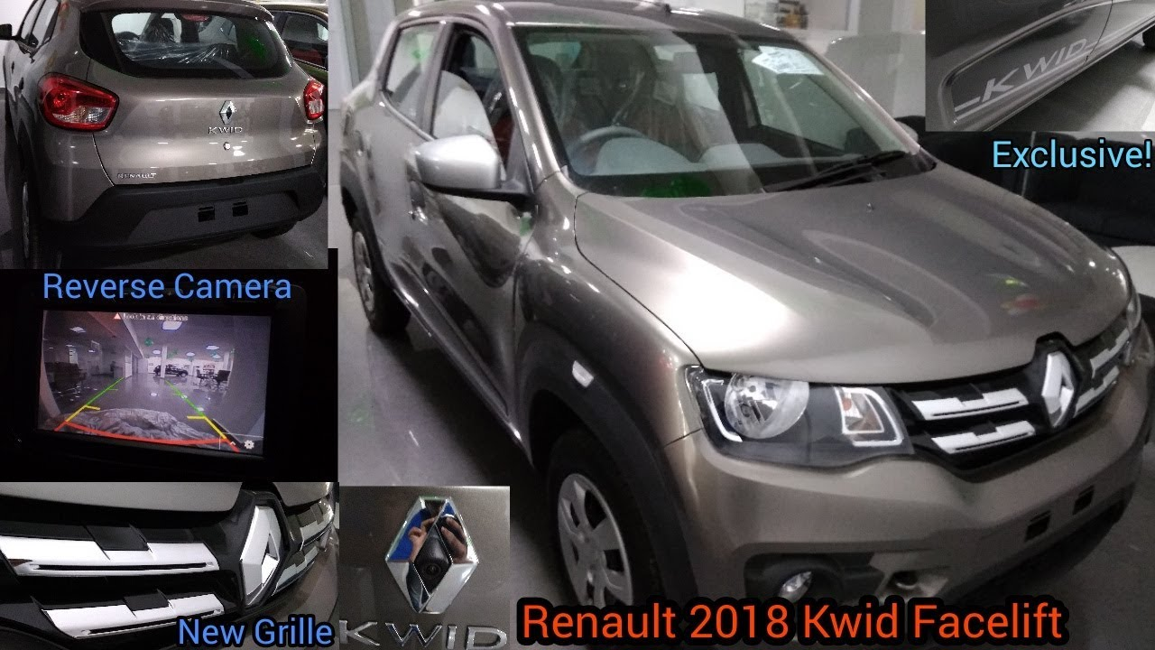 First On Youtube Exclusive Renault 2018 Kwid Facelift Full Review Walkaround Reverse Camera