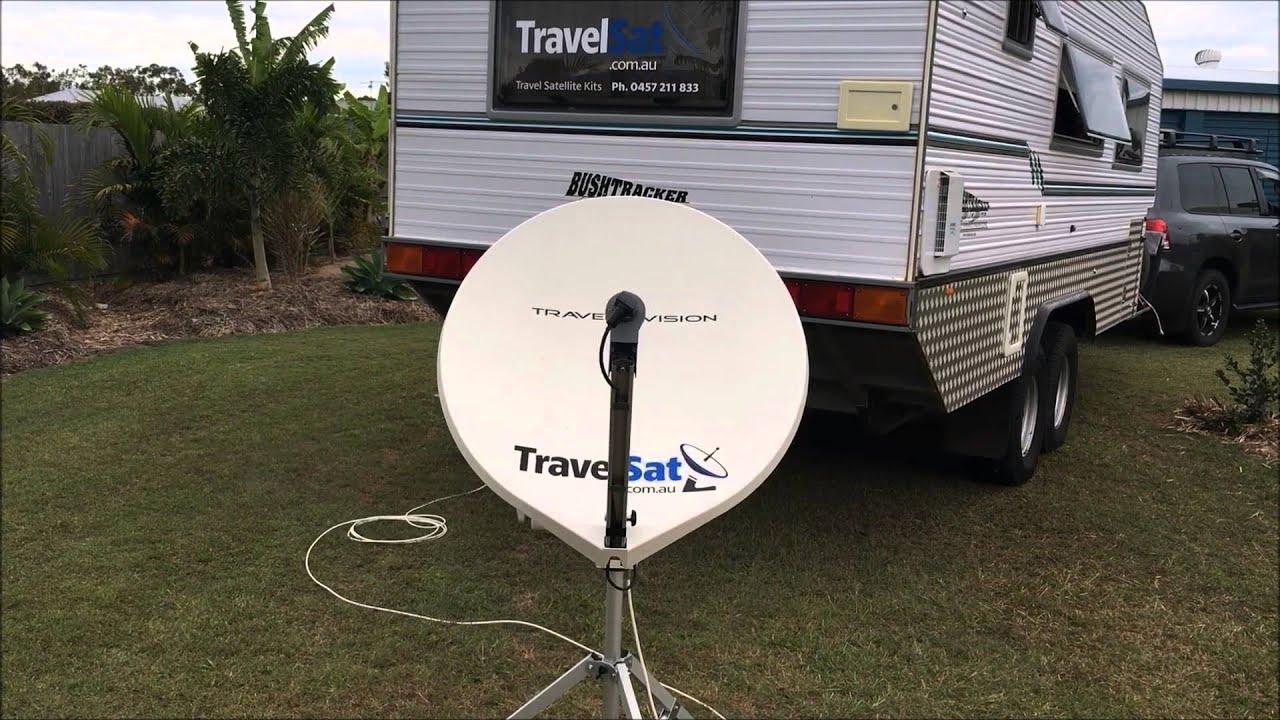 Setup Travel Vision R6 Satellite Dish On Bushtracker Caravan
