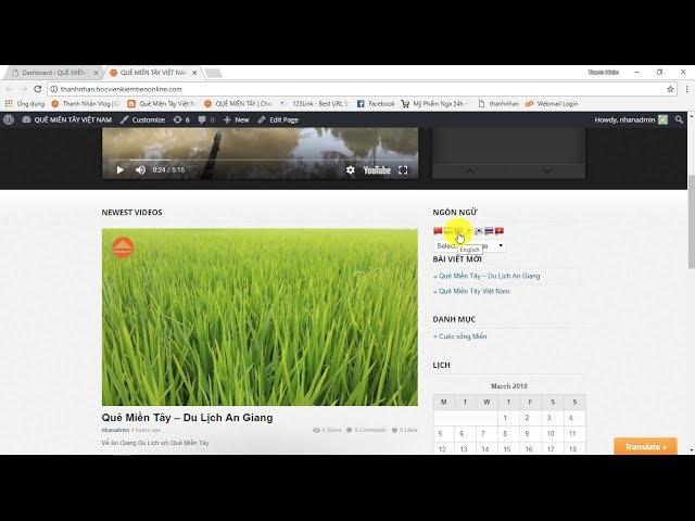 Tin Học Trong Tôi | Bài 2 Tự thiết kế Website video bán hàng trong 30 phút cấu hình widgets