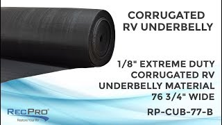"1/8"" Extreme Duty Corrugated RV Underbelly Material 76 3/4"" Wide"