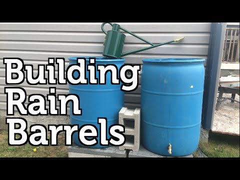 Installing A Rain Barrel For Beginners Youtube