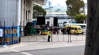 Justice Crew arriving at Hisense Arena in Melbourne for Up All Night Tour