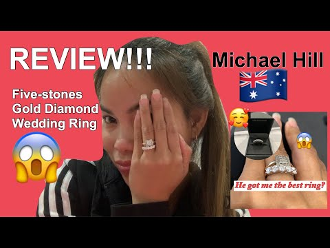 REVIEW:Michael Hill Gold Gold Diamond Wedding RING😱|| BRITISH HUSBAND IS VERY SWEET MAN🤗 🇦🇺||