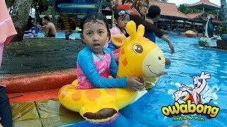Anak Kecil bermain air dan berenang 🐥 Kolam renang anak Owabong Purbalingga   Waterboom