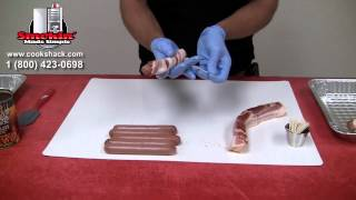 Pg1000- Bacon Wrapped Hot Dogs With Baked Beans