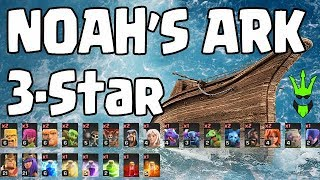 NOAH'S ARK 3-STAR with HUGE LOOT! - Stream Highlights - Clash of Clans - TH9 Farming