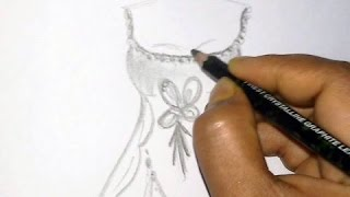 How to draw a dress step by step Part 2