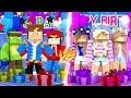 Minecraft PORTAL TO LITTLE CLUB BIRTHDAY PARTY - BOYS VS GIRLS!!
