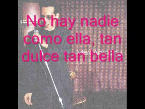 Nadie como ella - Marc anthony (lyrics)