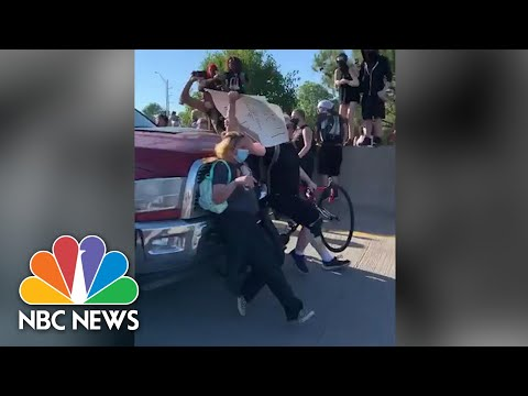 Truck Plows Into Group Of Oklahoma Protesters | NBC News NOW