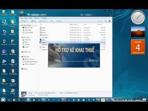 Hướng dẫn cài đặt phần mềm  HTKK 3.0 by DIAMOND