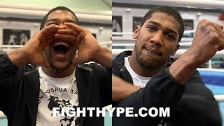 ANTHONY JOSHUA IMPERSONATES DEONTAY WILDER: