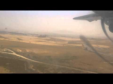 Air Algerie ATR 72-500 PW landing on Mohamed Boudiaf Airport, Constantine (CZL)