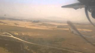 Air Algerie ATR 72-500 PW landing on Mohamed Boudiaf Airport, Constantine (CZL)