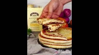 Рецепт лепёшек с ветчиной и сыром