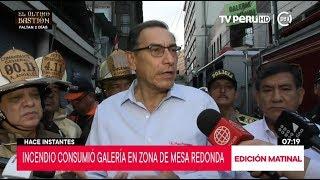 Presidente Vizcarra señala que almacenes informales originó que incendio se propague