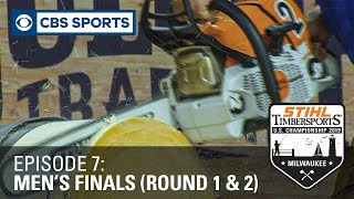 Battle for the STIHL TIMBERSPORTS® Men's Championship | Men's Finals Rounds 1 \u0026 2