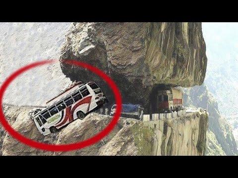 10 TOP DANGEROUS ROADS INCREDIBLE VIDEO सबसे खतरनाक सड़कों