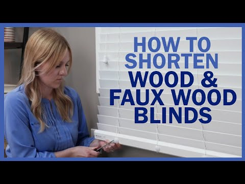 How To Shorten Wood and Faux Wood Blinds | Blinds.com