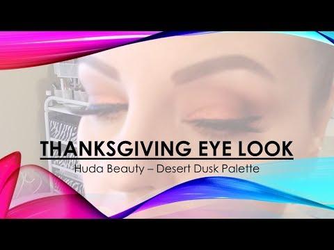 Thanksgiving Eye Look - Huda Beauty Desert Dusk Palette