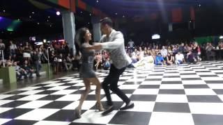 Nery Garcia and Liz Lira (24 time Salsa Champion) Salsa Demo @ Costa Rica Salsa Open 2013