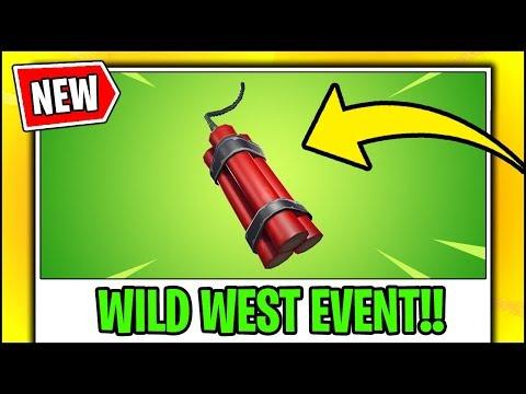 *NEW* Fortnite Update | NEW TNT/DYNAMITE, WILD WEST EVENT (LTM)