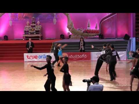 "King's Cup 2015 ""Thailand Open"": WDSF Latin Quarter Final R ; SAMBA"