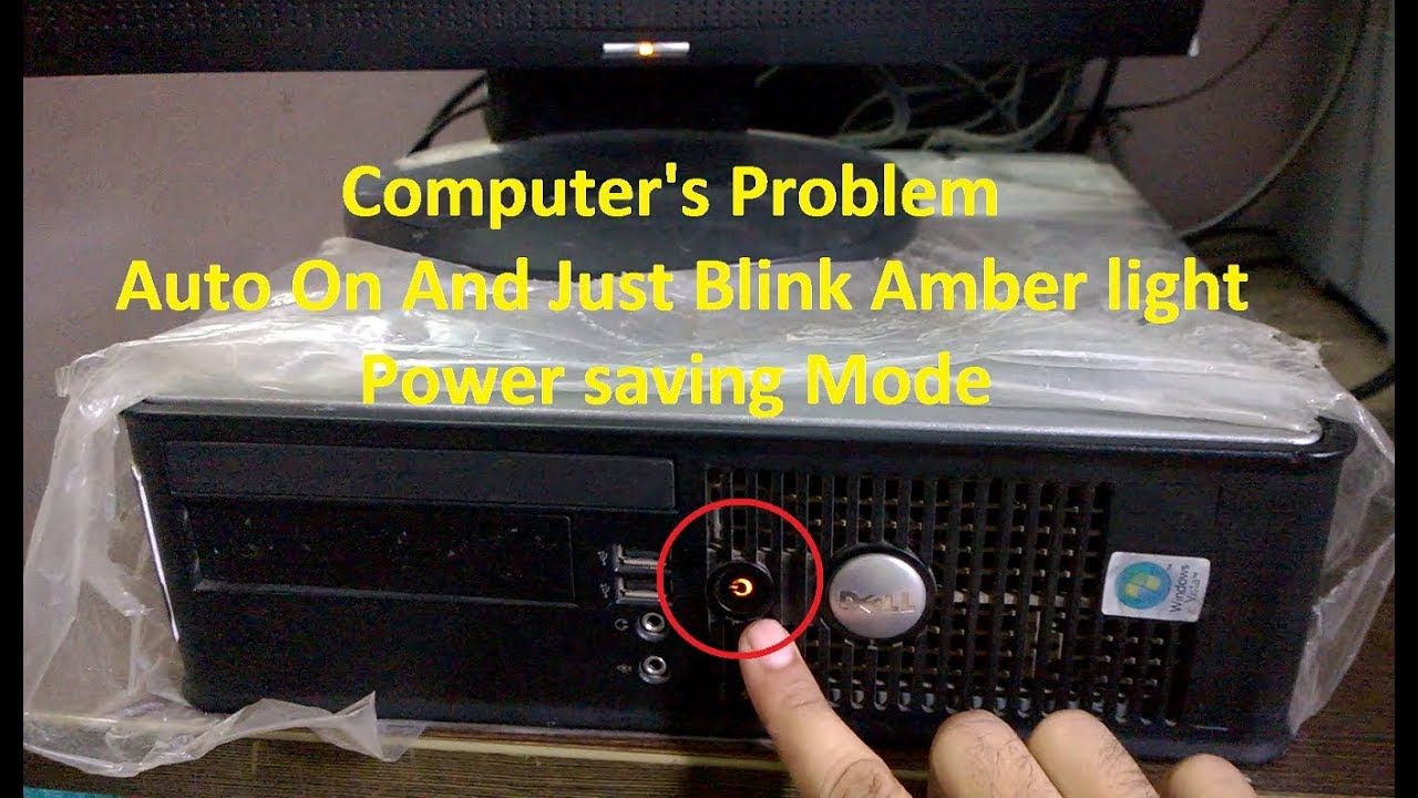 Dell Machine Problems | Dell Optiplex 760 Problems | Amber Light Blinking  But Pc Not Start