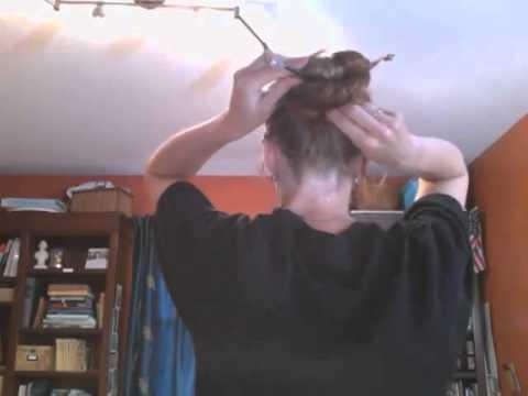 Asian Bun w/Hairsticks